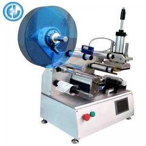 Semi Auto Bottle Labeling Machine , Adhesive Manual Label Applicator Manufactures