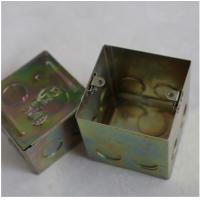 """North American Knockout Box 4"""" Square Drawn Metal stamping processing , Wall Mounted Stamping Box Part Manufactures"""