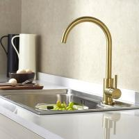 China Sink Mixer Gold/brass color 304 Stainless Steel Kitchen Faucet with hot/cold funtions on sale