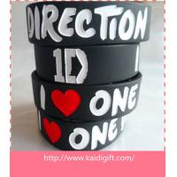 Quality high quality colors debossed silicone wristband for sale