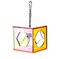acrylic bird foraging toys cube with different shape cut,colors vary Manufactures