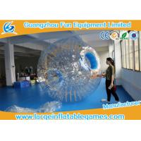 China Transparent Inflatable Human Hamster Ball Body Zorb Ball For Adult / Small Kids on sale