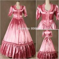 Wholesale Civil War Victorian Gothic Dress Ball Gown Southern Belle Dress Cosplay Costumes by Satin with XXS to XXXL Manufactures