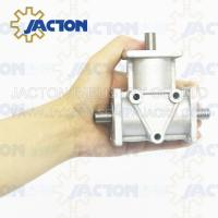 JTA10 Spiral Bevel/Miter Gears Right Angle Reducer Aluminum Gearbox 1:1 Ratio Transmission Manufactures
