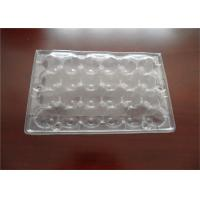 China Disposable PET Plastic Quail Egg Cartons Transport Storage Approved on sale