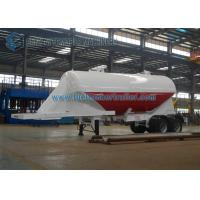 Customized 24m3 Tandem Axle Utility Trailer Cement Powder Trailer For Cement Manufactures