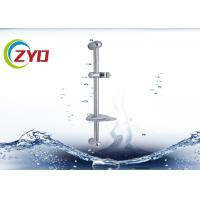 China 70cm Long Bathroom  Stainless Steel Chrome Shower Set System Panel Sliding Bar With Adjustable  Shower Hand Holder on sale