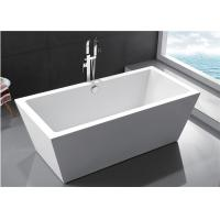 Durable Small Bathroom Freestanding Tub 60 Inch Soaking Tub Multiple Colors Manufactures