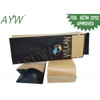 China Brown Paper Coffee Bean Packaging Bag Aluminum Foil With One Way Valve on sale