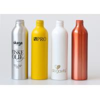 Empty Silver Aluminum Cosmetic Bottle With Lotion Pump 500ml Recycled Manufactures