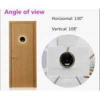 PIR Motion 1.2mm Lens Wireless Door Camera With Monitor , Color CMOS sensor Manufactures