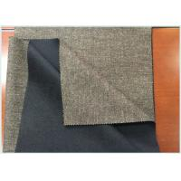 Customized Double Faced Wool Coating Fabric Gray And Black With Warm Feeling Manufactures