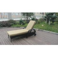 Beach Rattan Sun Lounger With Aluminium Frame Outdoor Rattan Daybed Manufactures