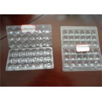China Hard Plastic Quail Egg Trays , Polystyrene Egg Carton Packaging For Refrigerator Egg Storage on sale
