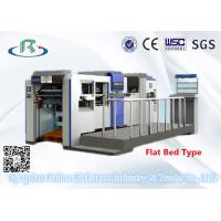 China High Speed Fully Automatic Flat Bed Die Cutting Machine(With Creasing Part) on sale