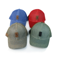 Full Mesh 6 Panel Quick Dry 58cm Fitted Baseball Cap Manufactures