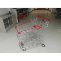 Buy cheap European Steel 100L Low Tray Supermarket Shopping Trolley With Blue Baby Seat from wholesalers