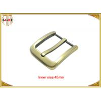 Gold Zinc Alloy Pin Metal Belt Buckle / Mens Fashion Belt Buckles Manufactures
