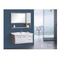 Stainless Steel Floating Bathroom Vanity With Drawers Two Doors Modern Style Manufactures