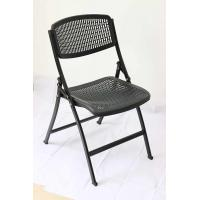 China factory supply plastic mesh chair with steel frame black plastic folding chair on sale