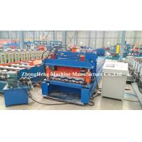 Cold Rolled Panel Roofing Sheet Roll Forming Machine With Adjustable Feeding Table Manufactures