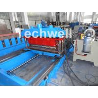 High Speed Metal Tile Cold Roll Forming Machine With Servo Flying Cutting Type Manufactures