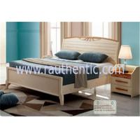 China Adults Low Headboard Light Wood Queen Beds , Full Size Wooden Bed Frame With Headboard on sale