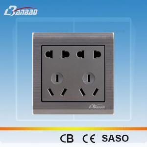 LK6017 2+2pole+3+ 3pin PC flush type asia socket