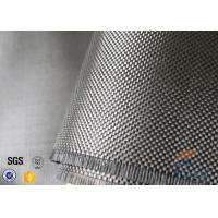 200g Twill Weave 3K Carbon Fiber Cloth Silver Coated Fabric For Decoration Manufactures