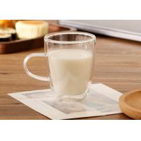 BPA Free Borosilicate Double Layer Coffee Cups , Clear Double Wall Insulated Glasses Manufactures