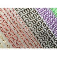 Aluminum Decorative Jack Hook Meshed Curtain Designs Pattern Appearance Manufactures