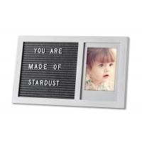 Changeable Felt Letter Board Wooden Photo Frame With White Letters Manufactures