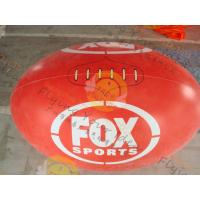Quality Attractive 1.5m Inflatable Rugby Ball Helium PVC Wind - Resistant for sale