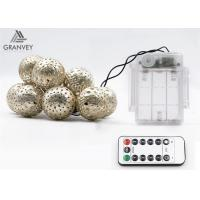 3.5M 10 Led Xmas Battery Powered Led Rope LightsMorocco Ball String High Brightness Manufactures