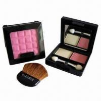 China Blusher + 2 Colors Eyeshadow Set with Natural Mineral Powder, Various Colors are Available on sale