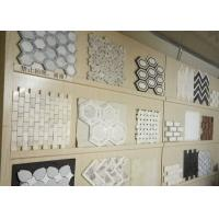 Polished Surface Marble Mosaic Tile 305mm * 305mm * 10mm / Customed Size