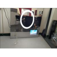 Custom Size Bath Mirror Tv , IP68 Waterproof Dielectric Glass Tv Mirror Scratch Resistance Manufactures