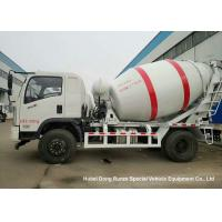 China Dongfeng 2 Axle Ready Mix Concrete Truck / Mobile Cement Mixer Trucks 4cbm on sale