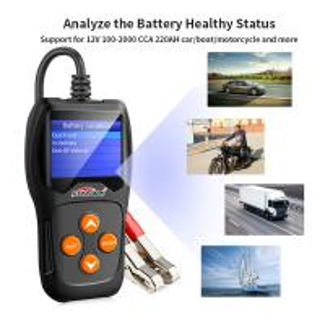China Digital Auto Battery Tester Analyzer Foxwell Autel KONNWEI KW600 2.4'' LCD TFT Screen on sale