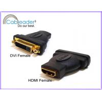 China Reduce EM and RF interference HDMI Female Adapter DVI-D 24+1 Female to HDMI 19 pin Female on sale