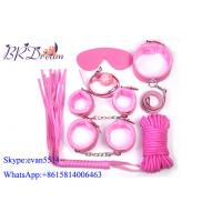 Pink Plush Sex Game Fetish Bondage Fetish Toys Kits , Restraints Sex Toys Manufactures