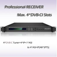 RSR1114 4*DVB-C TO ASI&48 IP SPTS Output Four-Channel Professional Receiver with CI Slot Manufactures