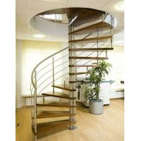 Stainless steel round stairs wood stairway Manufactures
