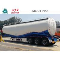 Heavy Duty 50 M³ Bulk Cement Tanker Trailer 3 Axles With 80 Tons Payload Manufactures