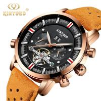 China Online Shopping free shipping luxury brand tourbillon leather men watches in wristwatches automatic mechanical watch on sale