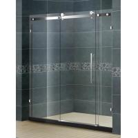 Buy cheap Frameless Inline Bathroom Shower Enclosures Sliding Door With Big Hanging Wheels from wholesalers