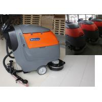 Plastic Handle Battery Powered Floor Sweeper Scrubber , Epoxy Floor Cleaning Machine Manufactures