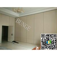 MDF + Aluminum Operable Acoustic Movable Office Partition / Wooden Folding Doors Manufactures