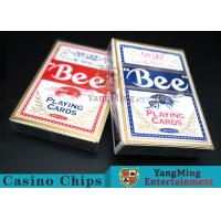 Bee Dedicated Casino Playing Cards With Exquisite Plastic Box Packaging Manufactures