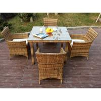 All Weather Plastic Rattan Garden Dining Sets With Chair And Table Manufactures